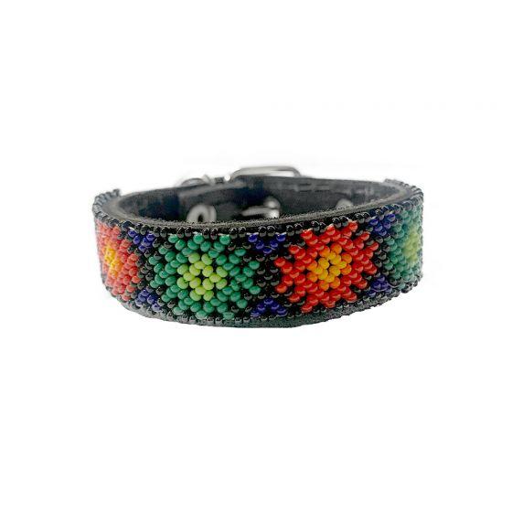 Collar Artesanal Wixari Pets Flor de Hikuri