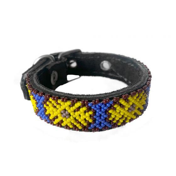 Collar Artesanal Wixari Pets Flor de Hikuri (Amarilla) XS